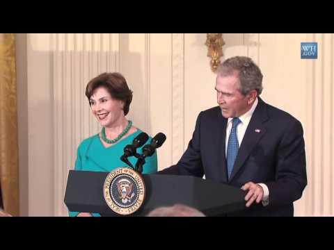 President GW Bush White House Portrait Unveiling