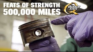 half a million miles with quaker state motor oil