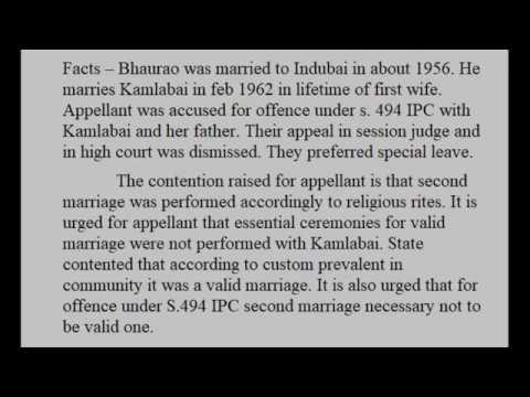 Bhaurao vs State of Maharashtra 1965