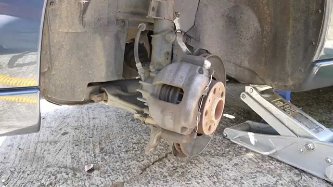 Changing Brake Pads & Rotors on 2005 Volvo S60 2.5L Turbo AWD - Part 1 - YouTube