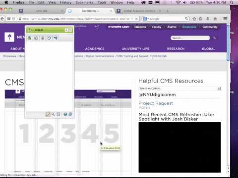 CMS Training 101 (Webinar Recording)