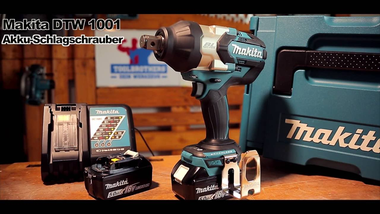 makita dtw 1001 18v akku schlagschrauber preview youtube. Black Bedroom Furniture Sets. Home Design Ideas