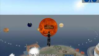 Creating solar system in second life 6 - Venus Rotation