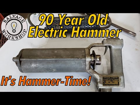 1930's Electric Hammer & How It's Evolved ~ RESTORATION ~ Maybe This Helped Build The HOOVER DAM!