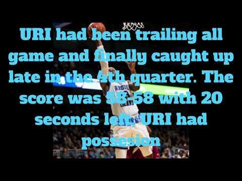 Game Footage:URI Stanford Robinson game winning 3-pointer against Duquesne