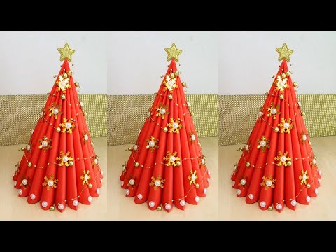 3D Paper Christmas Tree | How to Make a 3D Paper Xmas Tree DIY Tutorial BY JULIA DATTA