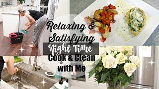 RELAXING & SATISFYING COOK & CLEAN WITH ME // PECORINO BASIL CHICKEN // BEAUTY AND THE BEASTONS