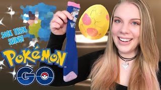 HATCHING A SHINY WITH THE SOCK EGG HATCHING TRICK! 18x 7km Sinnoh Event Eggs | Pokemon Go