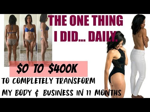 11 month TOTAL TRANSFORMATION: BODY & BUSINESS | DAILY HABIT FOR SUCCESS | THE LAST 10 POUNDS