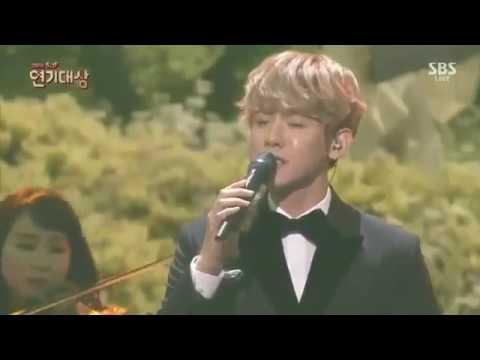 EXO Baekhyun   'For You' OST Moon Lovers  SBS Drama Awards 2016