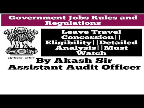 Leave Travel Concession In Central Government||Rules And Regulations||In Hindi
