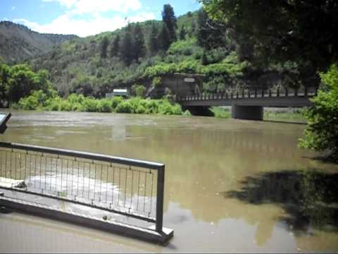 Colorado River Overflow in Glenwood Canyon near Dotsero