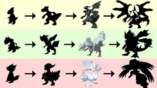 Zekrom Reshiram Kyurem Evolution | Pokemon Gen 8 Fanart