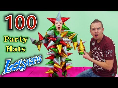 100 Layers of Party Hats!!! Crazy Challenge Accepted!