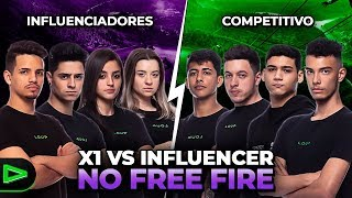 X1 VS LOUD INFLUENCER NO FREE FIRE !!