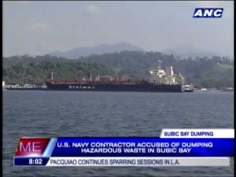 US Navy contractor accused of dumping waste in Subic