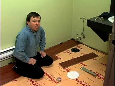 Installation Of Laminate Flooring In The Bathroom Youtube