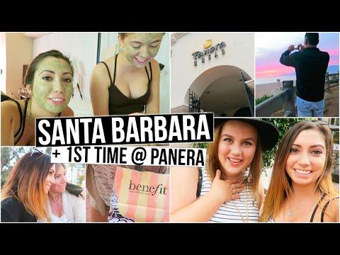 Santa Barbara, 1st Time @ Panera, Face Masks