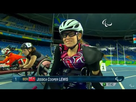 Jessica Lewis In 100m Finals at Paralympic Games, Sept 8 2016