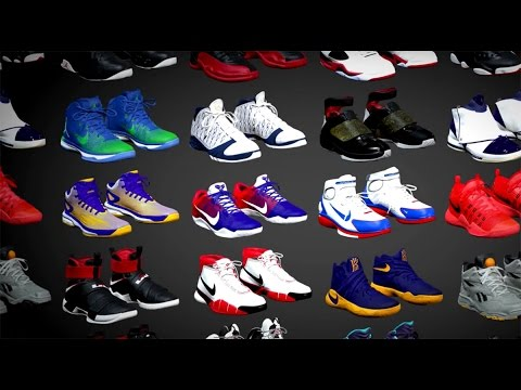 NBA 2K17 XBOX 360/PS3 SHOE SELECTION