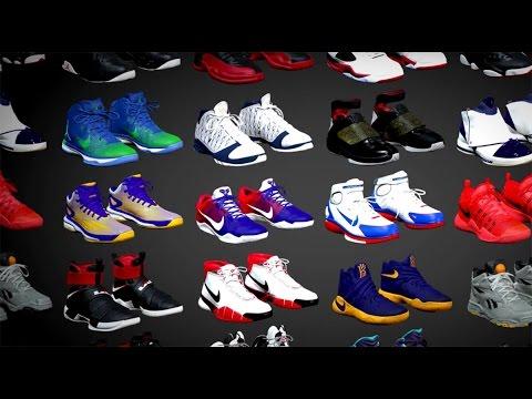 NBA 2K17 XBOX 360/PS3 SHOE SELECTION