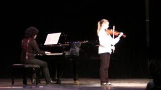 Solo de concours en Ré Majeur de Lacourt-Wolff, Elise Bertrand, violon