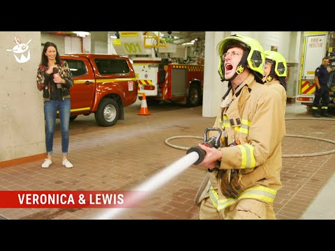 Lewis learns firefighting