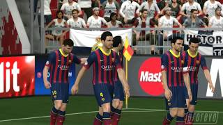 PES 2014 - Real Madrid vs. FC Barcelona 1st half *PC - final code*