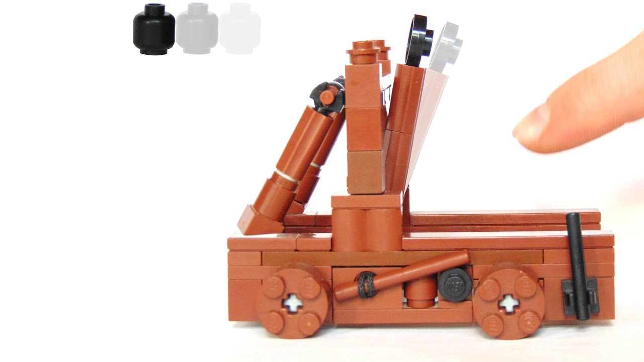 How To Build A Working Lego Catapult Youtube