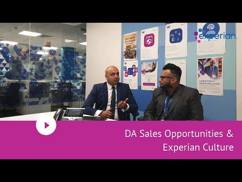 DA Sales Opportunities & Experian Culture