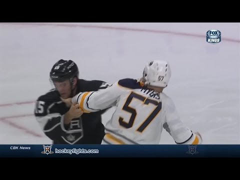 Tyler Myers vs Andy Andreoff Oct 23, 2014