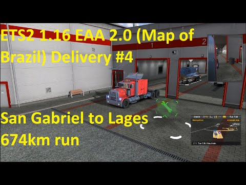 ETS2 1.16 EAA 2.0 Map of Brazil Delivery #4