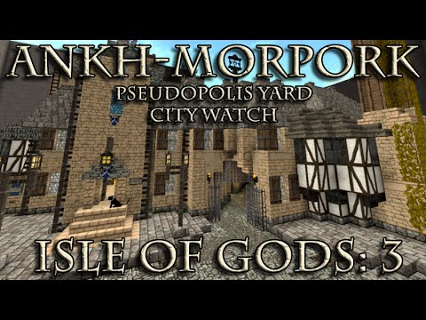 Ankh-Morpork in Minecraft: Isle of Gods 3 - Pseudopolis Yard City Watch House