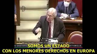 Vittorio Sgarbi Miembro de la Cámara de Diputados de Italia EPICO DISCURSO