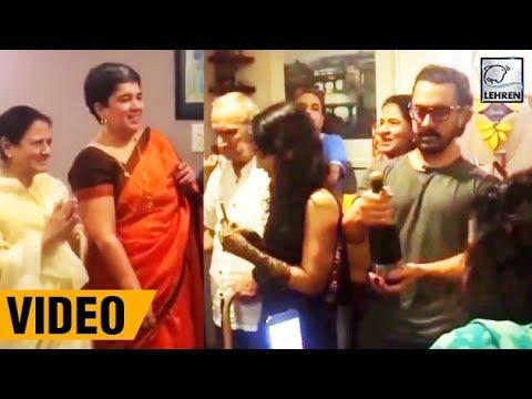 Aamir Khan Celebrates Ex Wife Reena Dutta's Birthday | LehrenTV
