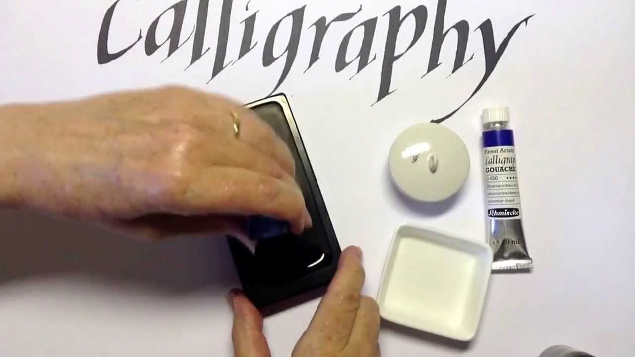 Calligraphy - inks and paint