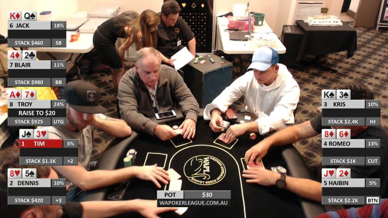 Wapl poker roulette records