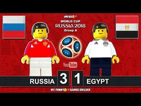 Russia vs Egypt 3-1 • World Cup 2018 (19/06/2018) All Goals Highlights Lego Football