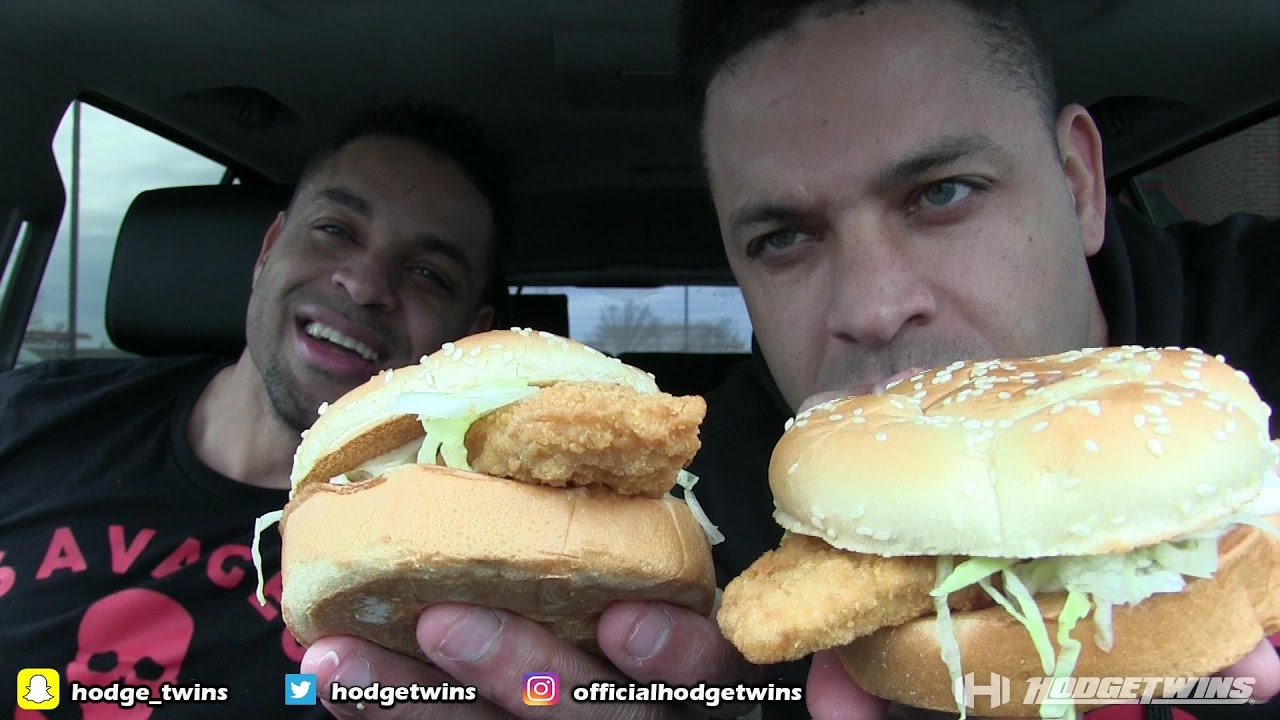 Eating arby 39 s fish sandwich hodgetwins youtube for Arby s fish sandwich 2017