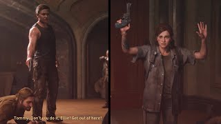 The Last of Us Part 2 - Abby Confronts Ellie + Kills Jesse // Both Abby + Ellie's Perspective