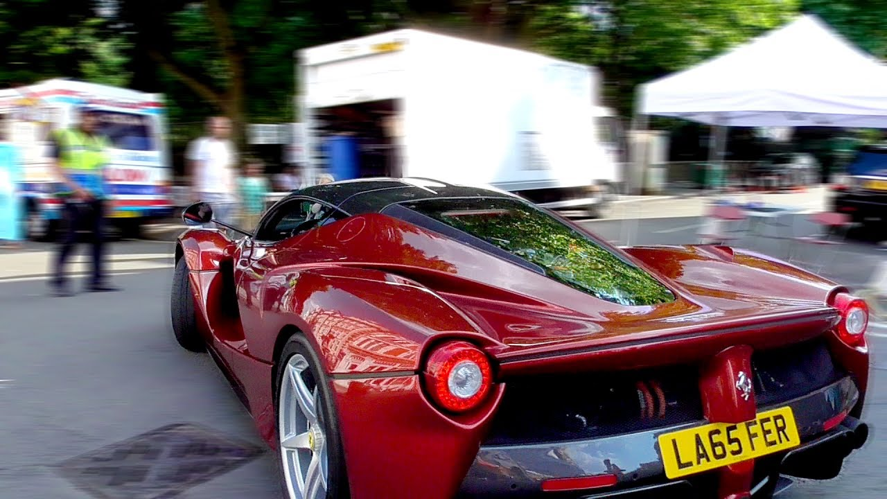 Supercars And Classic Cars Leaving A Car Show In London Youtube