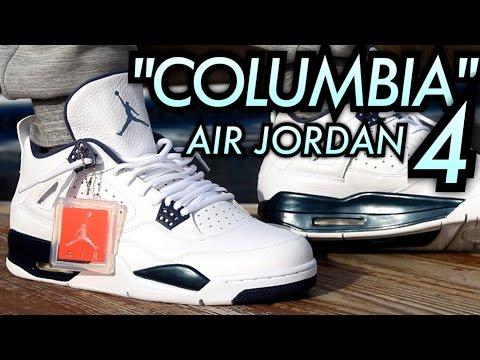 "2015 ""Columbia/Legend Blue"" Air Jordan 4 W/ On-Feet Review"