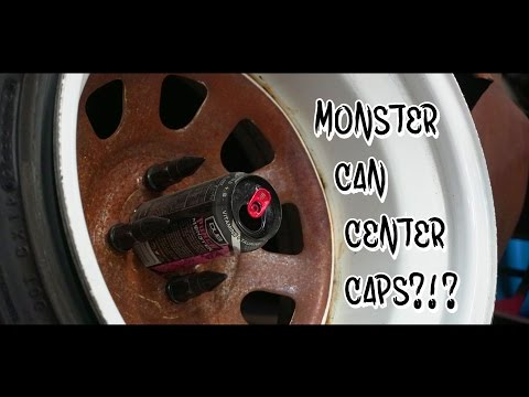 HOW TO: MONSTER CAN CENTER CAPS?!?