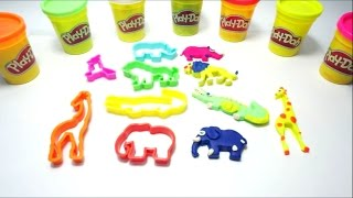 Creative Zoo Animal Molds - DIY Play-Doh Game for Kids