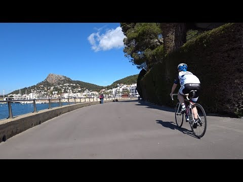 30 Minute Sunshine Beach Relax Cycling Training Spain 4K Video 2018