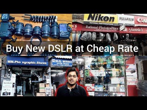 Buy New DSLR at Cheap Price India, Kolkata Metro Gali Camera Gali, Camera Market