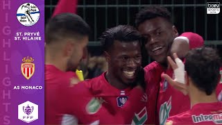 St. Pryvé St. Hilaire 1 - 3 AS Monaco - HIGHLIGHTS & GOALS - 1/20/2020