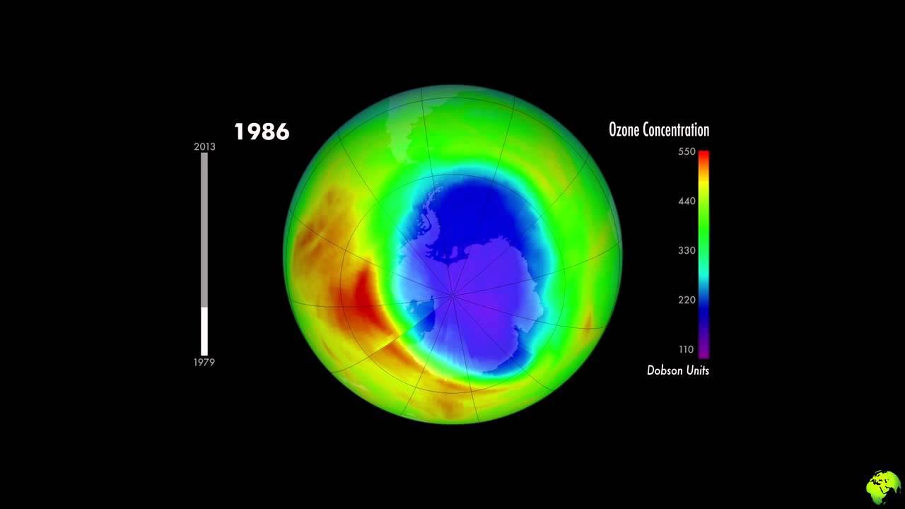 Trou dans la couche d 39 ozone de 1979 2013 youtube - Trou de la couche d ozone ...