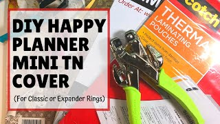 DIY Happy Planner Mini Travelers Notebook Cover | Classic/Expand Rings