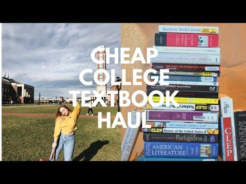 How I Got My College Textbooks For Less Than $150 !!! // Liberty University Textbook Haul